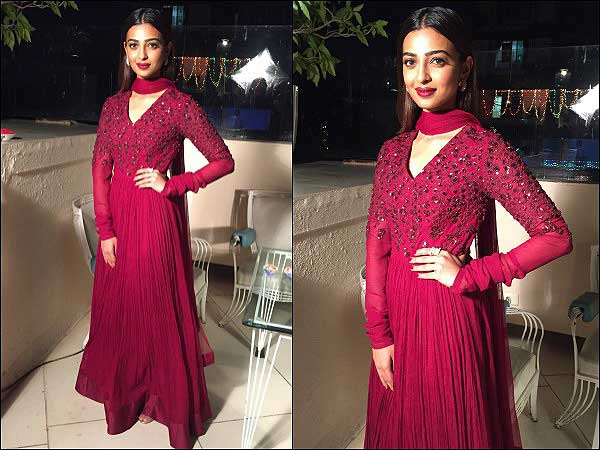 Radhika Apte Stuns In A Deep Red Ridhi Mehra Anarkali