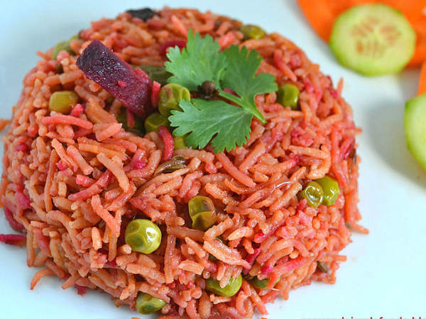 Tasty And Healthy Beetroot Pulao Recipe