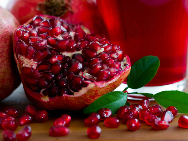 Natural mouthwash with pomegranate peel..!