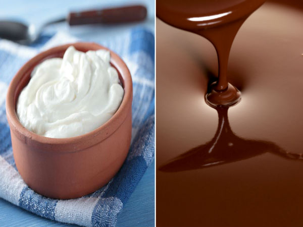 Chocolate with curd