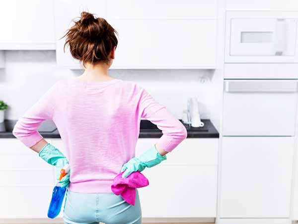 kitchen cleaning women