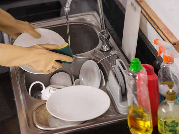Cleaning The Dishes