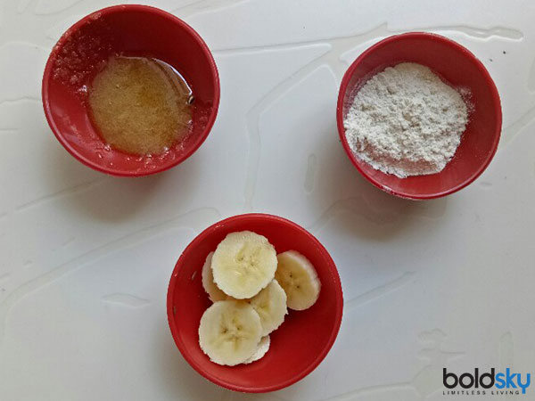 Banana And Rice Flour Hair Mask For Damaged Hair