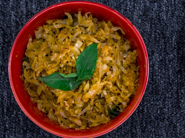 Cabbage palya recipe