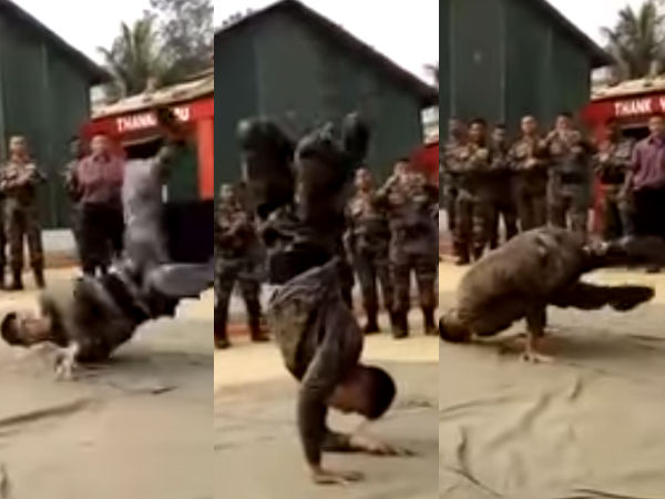 Army Man Dancing Is Going Viral