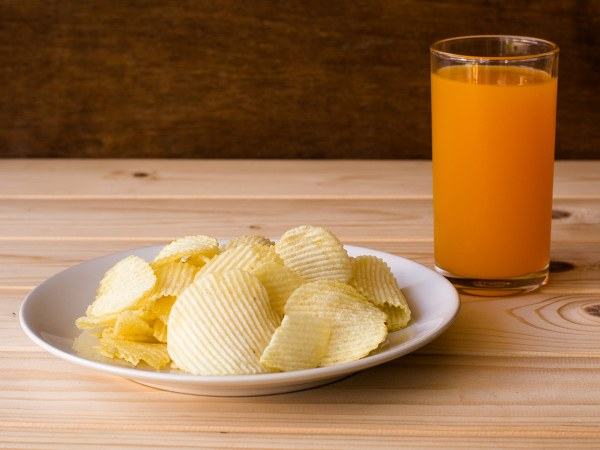 Potato Chips and Juice