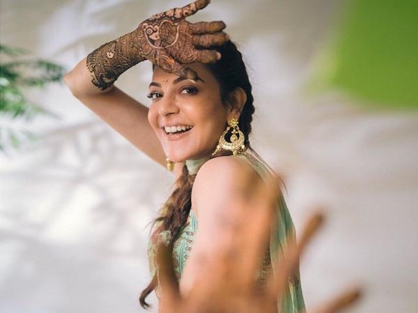 ಕಾಜಲ್ ಅಗರ್ವಾಲ್ ಮದುವೆ: ಮದುಮಗಳ ಕೈ ರಂಗೇರಿಸಿದ ಮದರಂಗಿ