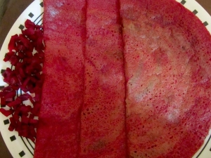 Yummy Beetroot Dosa Recipe Breakfast