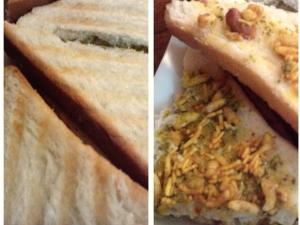 Mouthwatering Bhel Puri Sandwich Recipe