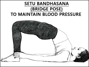 Setu Bandhasana Bridge Pose Maintain Blood Pressure.html