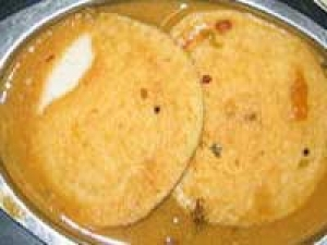Menthya Idli Fried Dal Sambar