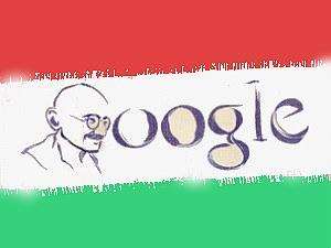 Gandhi Jayanthi Pak Artist Paints Gandhi In Blood Aid
