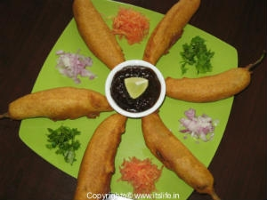 Green Chilli Bajji Recipe