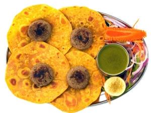 Besan Ki Roti Indian Breakfast