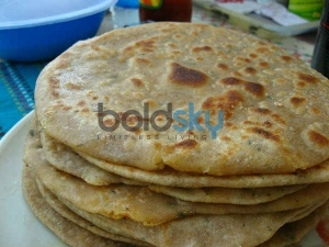 Stuffed Corn Paratha Breakfast