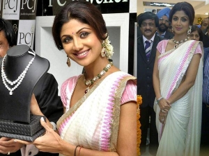 Shilpa Shetty Goes Desi White Saree