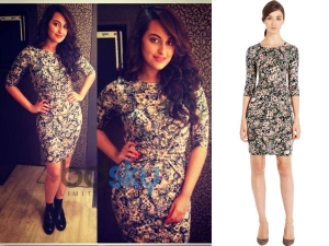 Sonakshi Sinha Warehouse Tapestry Dress
