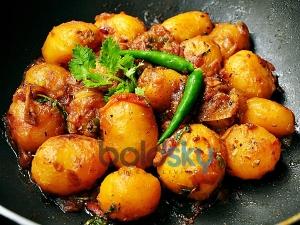 Crisp Baby Potatoes Fry Recipe