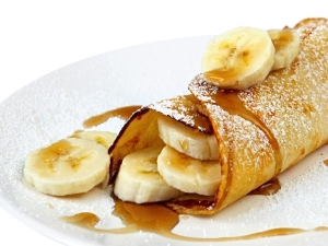 Honey Banana Pancakes Breakfast