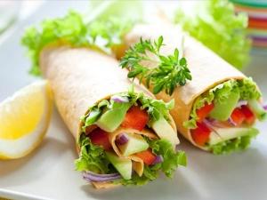 Tandoori Aloo Wrap Breakfast