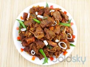 Mutton Pepper Fry Andhra Spl Recipe