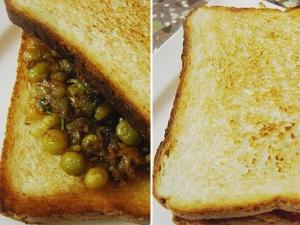 Bread Masala Peas Recipe Breakfast
