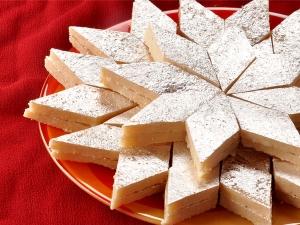 Coconut Burfi Recipe Ganesh Chaturthi
