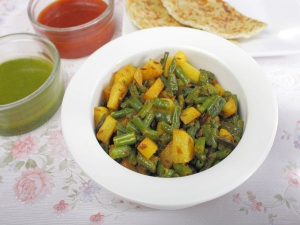 Quick Aloo Beans Sabzi Working People
