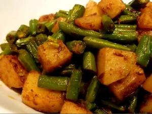 Spicy Aloo Green Beans Sabzi