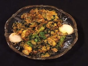 Banana Stem Curry With Methi Recipe