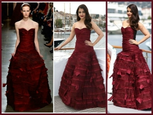 Cannes 2015 Aishwarya Rai S Berry Look At At Jazbaa First L