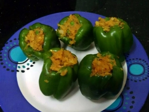 Aloo Stuffed Capsicum Recipe Step Step