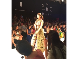 Lakme Fashion Week Winter Festive 2015 Gauahar Khan Walks R