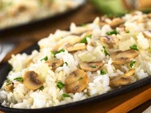 Mushroom Rice Recipe Rakshabandhan