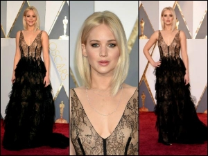 Jennifer Lawrence Steals The Show A Dior Gown Oscars