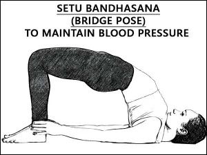 Setu Bandhasana Bridge Pose Maintain Blood Pressure