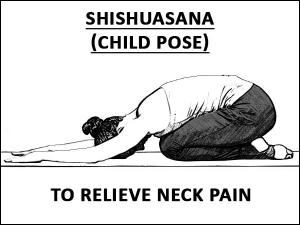 Shishuasana Child Pose Relieve Neck Pain