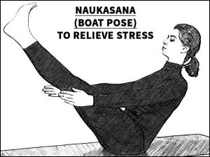 Naukasana Boat Pose Relieve Stress