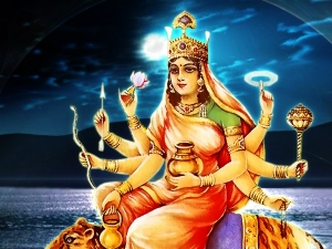 Worshiping Devi Kushmanda On The 4th Day Navratri