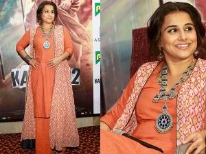 Vidya Balan S Urban Desi Look During The Promotion Kahaani 2