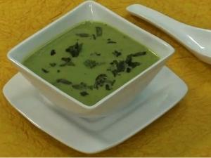 Green Peas Mint Soup Recipe
