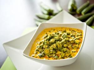 Hyderabadi Special Curd Bhindi Masala Curry