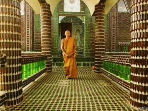 What This Beautiful Temple Is Built With Just Beer Bottles