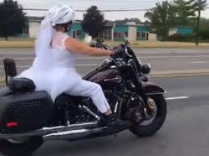 This Bride Rode Harley To Her Wedding