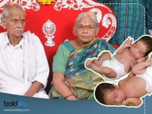 74 Years Andhra Woman Gives Birth To Twins