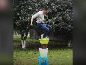 This Chinese Man Amazing Jump On Water Goes Viral