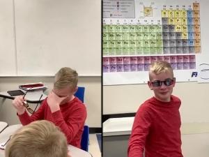 Colour Blind Boy Gets Emotional After He Sees Color