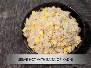 Corn Pulao Recipe