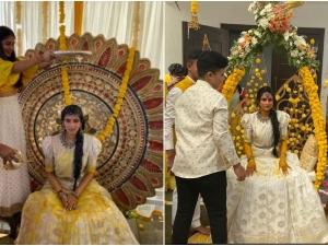 Dk Shivakumar Daughter Aishwarya Haldi Cremony Here Are The Photos