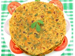 Methi Paratha Recipe In Kannada